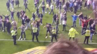 Millwall pitch invasion! Vs Bradford City play off second leg!
