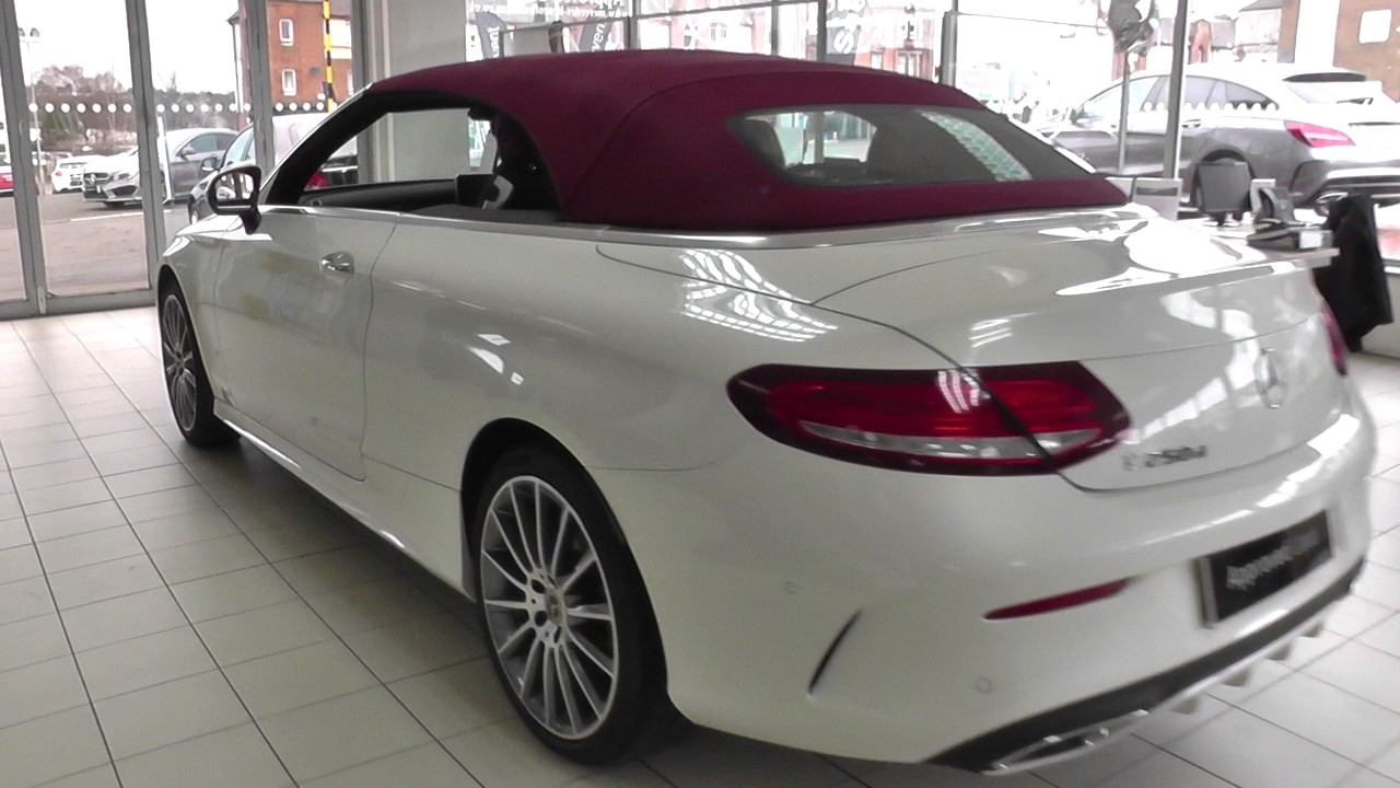 mercedes benz c class cabriolet c 250 d amg line cabriolet u18724 youtube. Black Bedroom Furniture Sets. Home Design Ideas
