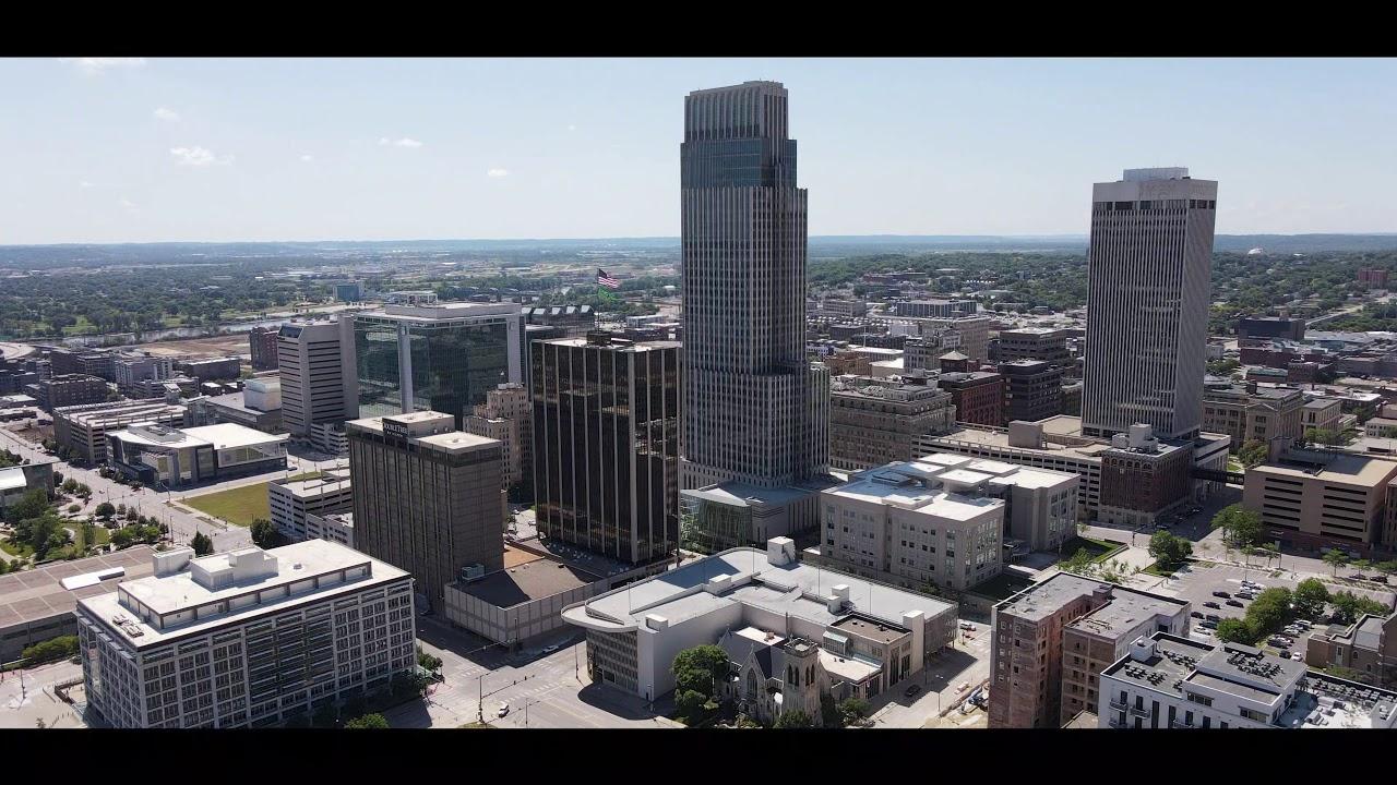 Downtown Omaha, Nebraska   Drone Video - YouTube