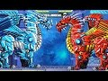 Robot Ice Dragon Vs Kangaroo Vs Turtle Vs Sickle Vs Red Dragon | Eftsei Gaming