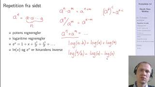 Repetition af eksponential og logaritme funktioner