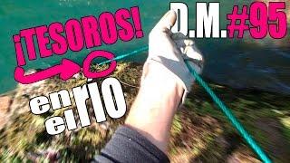 Pescando TESOROS en el RÍO con imán de neodimio II Magnet Fishing - Detección Metálica ep. 95