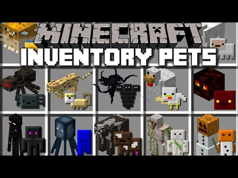 Minecraft INVENTORY PETS MOD / TRANSFORM MOBS IN TO PETS THAT YOU CAN USE !! Minecraft thumbnail