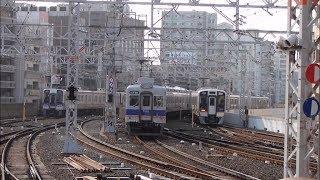 南海電鉄 なんば駅での撮影まとめ ゆく電車くる電車