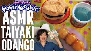 ASMR Emmy Loses Her Voice TAIYAKI & ODANGO Popin' Cookin' | Japanese Candy Making Kit