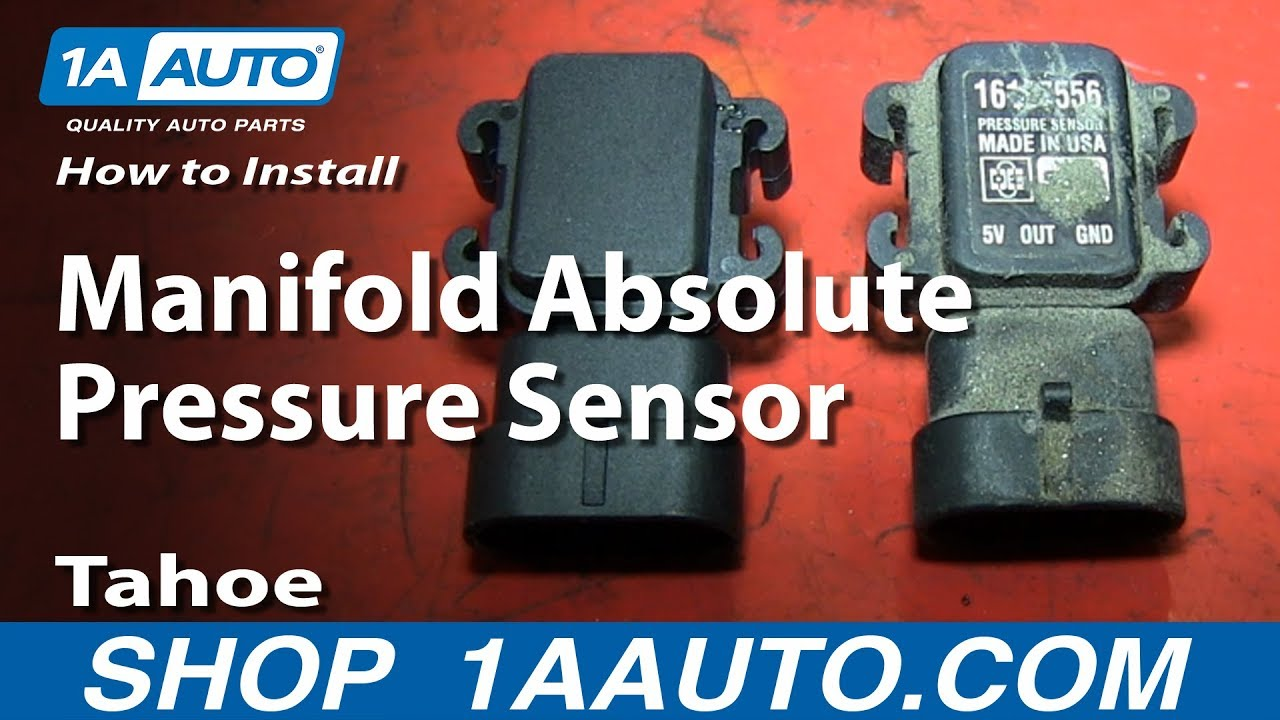 How To Install Replace Manifold Absolute Pressure Sensor MAP 199699 Tahoe 57L  YouTube
