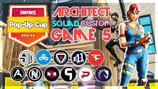 Architect Pop-Up 🥊Squad Customs🥊 Game 5 (Fortnite)
