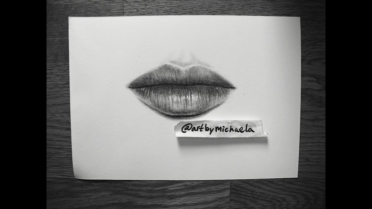 Tutorial how to draw realistic lips
