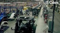 Valtra-traktoreiden turvaohjaamoiden kokoonpano - MSK Cabins