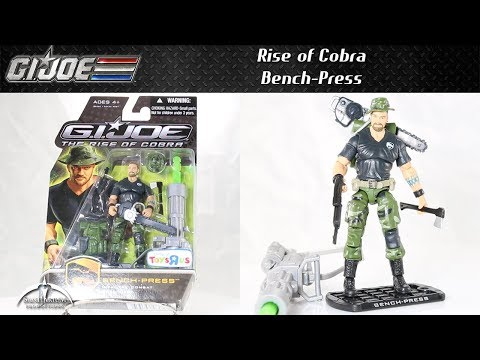 GI Joe Rise Of Cobra Toys 'R Us Exclusive Bench-Press Unboxing And Review