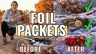 HOW TO MAKE FΟIL PACKETS FOR CAMPING (aka Hobo Meals): How to assemble, fold, and cook!