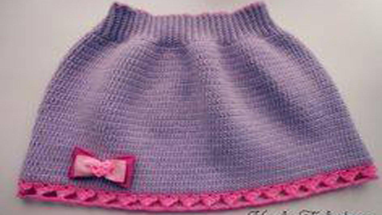 889b797db faldas para niña tejidas en crochet diseños