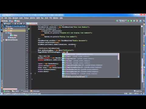 JavaFX Java GUI Tutorial - 24 - RadioMenuItem