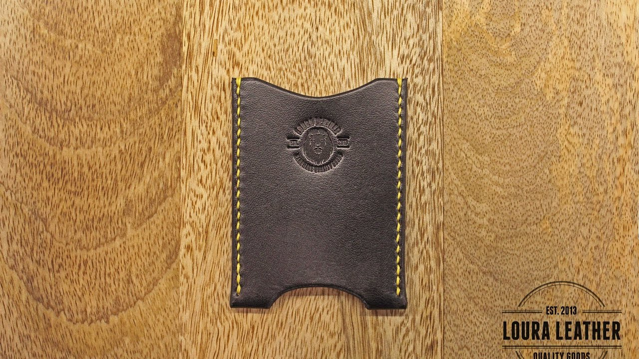 Making a Leather Wallet - The Card Sleeve