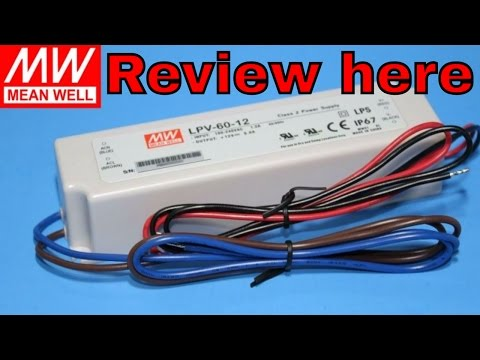 Meanwell Mean Well MW 12V 5A 60W LED Driver LPV-60-12 IP67 60 Watt Power Supply MajorDepot.com