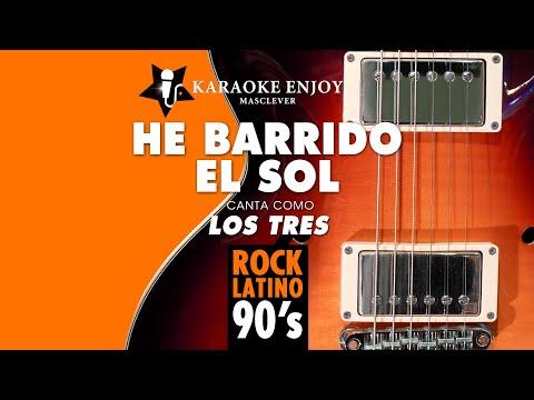 He barrido el sol - Los tres (Version cover Karaoke con letra pintada)