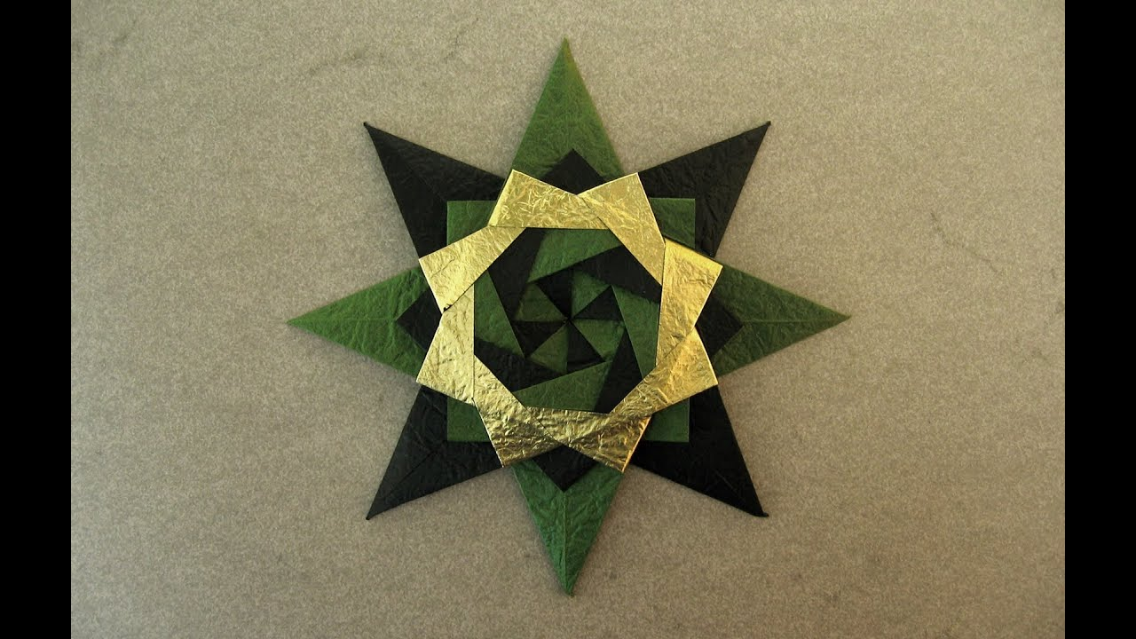 christmas origami diagram pj dump trailer wiring roc grp instructions braided corona star maria
