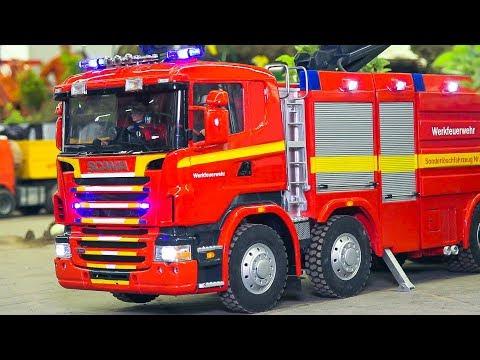 RC MODEL FIRE TRUCKS, FIRE FIGHTERS, RC SCANIA, RC MAN, RC MB MERCEDES-BENZ, RC TAMIYA