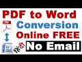 How To Convert PDF to Word  Online FREE No Email (PDF to Word Converter FREE)
