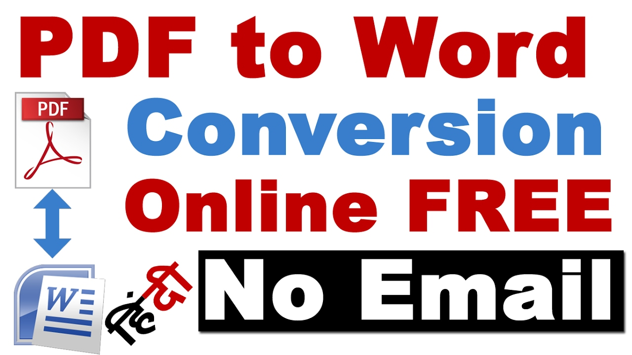 Part 1 Top 5 Online Word to PDF Converter Needs Email