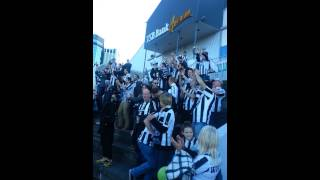 Toon fans in Wellington - Shearer and Blaydon Races
