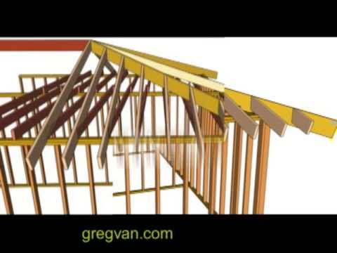 Hip Rafter and Ceiling Joists Layout Tips - House Framing - YouTube