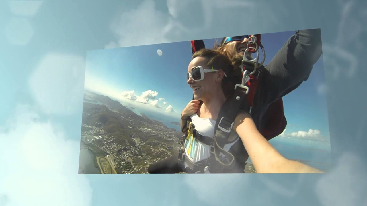 Skydiving over the USVI -