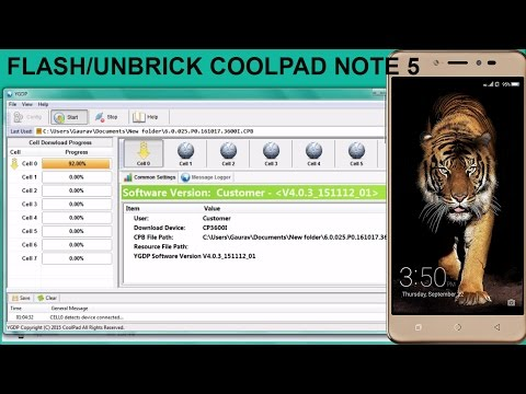Flash/Unbrick Coolpad Note 5 | Coolpad Note 5 Stock ROM Flashing