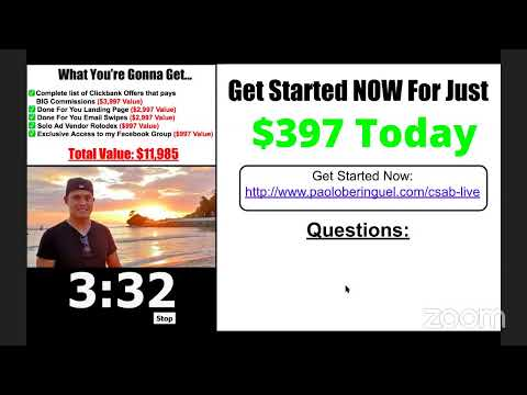 Live Training: How To Earn $10,000 Per Month Selling Other People's Products