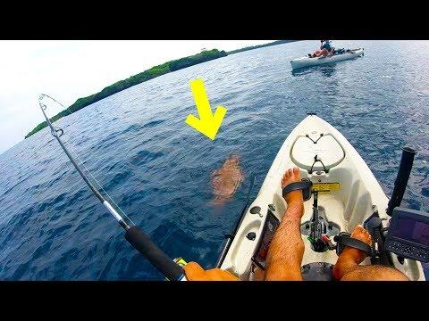 カヤック釣り一投目で化け物釣り上げる!【西表島遠征釣り修行#6】