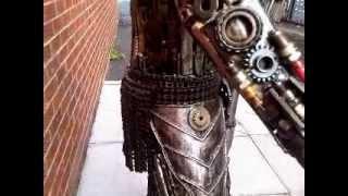 Predator Figure 5ft Metal Art Productions Scrap Parts Sculpture