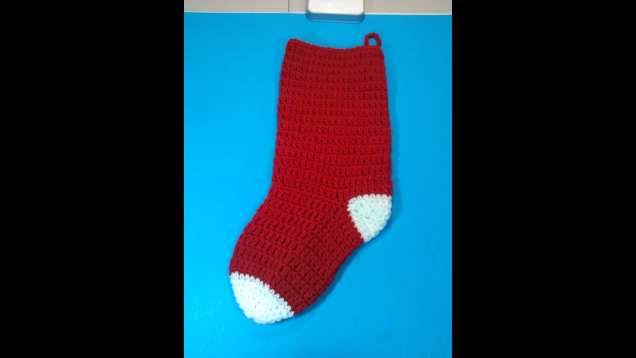 How to crochet christmas stocking video 1 youtube how to crochet christmas stocking video 1 bankloansurffo Image collections