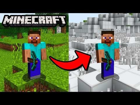 Can You Beat Minecraft If Every Block Looks The Same? - No Texture Challenge