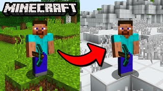 Can You Beat Minecraft If Every Block Looks The Same   No Texture Challenge