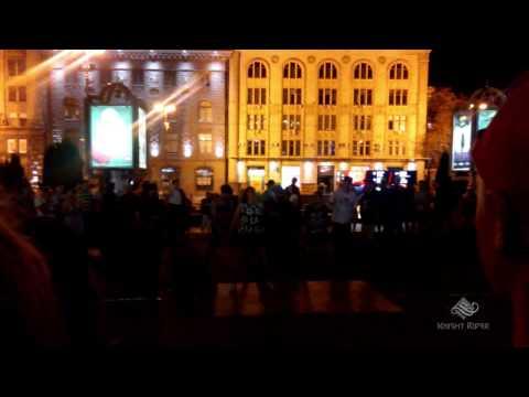 Танцы улиц Киева Вечерний Крещатик часть 1 - Dancing Streets of Kiev Khreschatyk Evening part 1