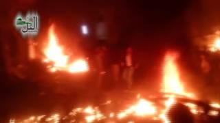 جديد - اللحظات الأولى بعد تفجير جامع بيدر السلطاني في مدينة التل وحجم الدمار 23/6/2015
