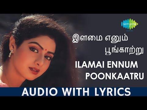 Ilamai Enum Poongatru - Lyric Video | Sridevi | Ilaiyaraaja | Kannadasan | Tamil | Original HD Song