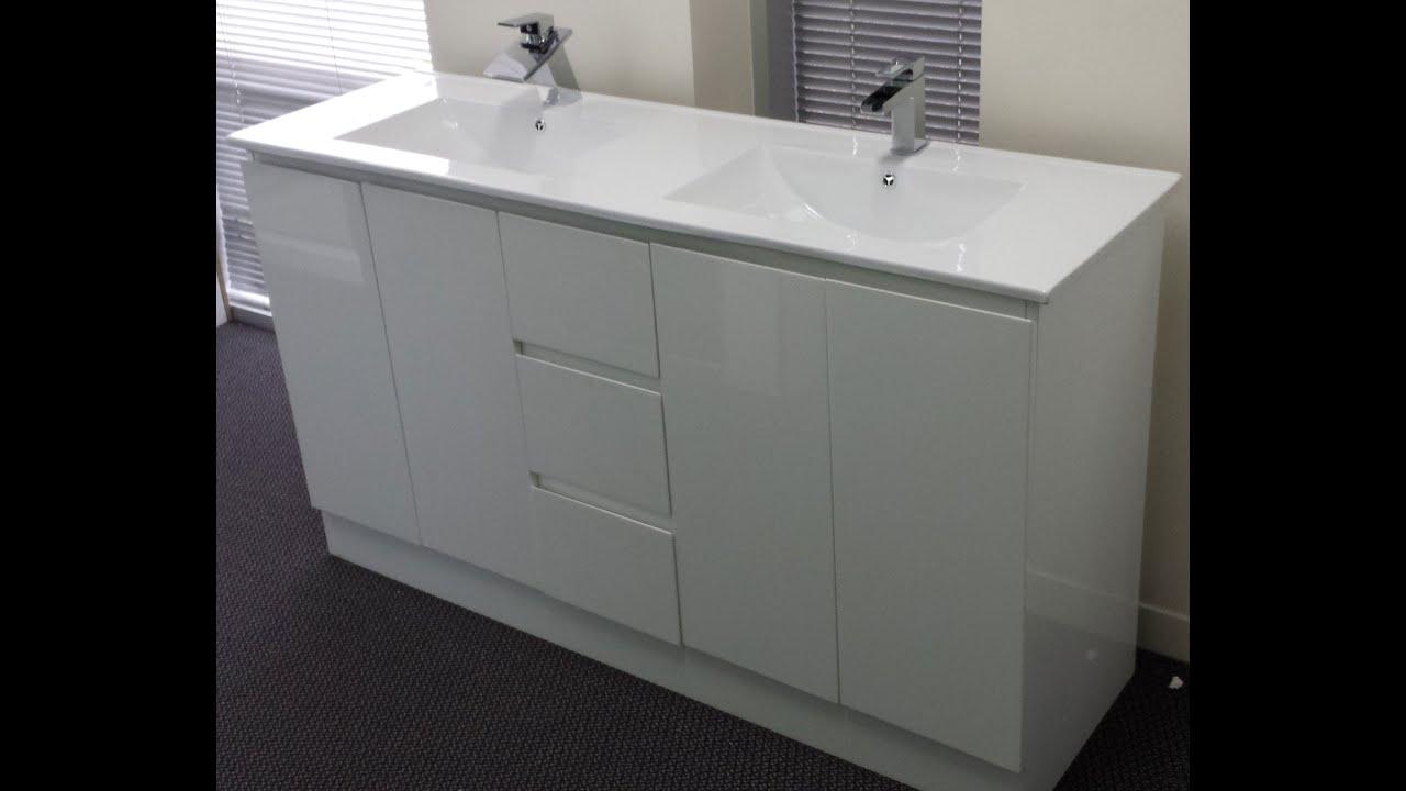 Buy Bathroom Ceramic Top vanity in melbourne [1500 mm double basin]  YouTube