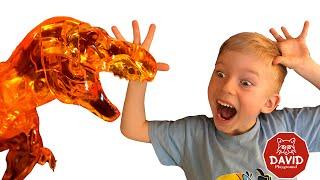 Собираем 3Д Кристальный пазл Динозавр / 3D Crystal T-REX