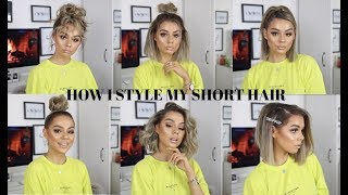 MY FAVE GO TO HAIRSTYLES FOR SHORT HAIR (EASY)