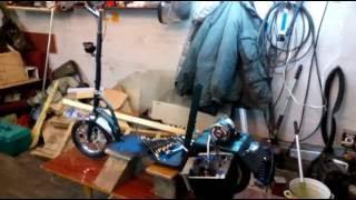 Самодельный электросамокат(Это видео о создании из старого и