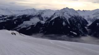 Заезд на санках в Австрии