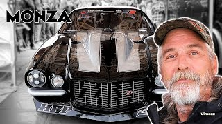 """Jerry """"monza"""" johnston returns to street outlaws no prep kings at rt66 joliet after a rollover crash during the filming of outlaws. monza with his son..."""