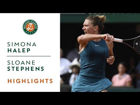 Simona Halep vs Sloane Stephens  Final Highlights I RolandGarros 2018