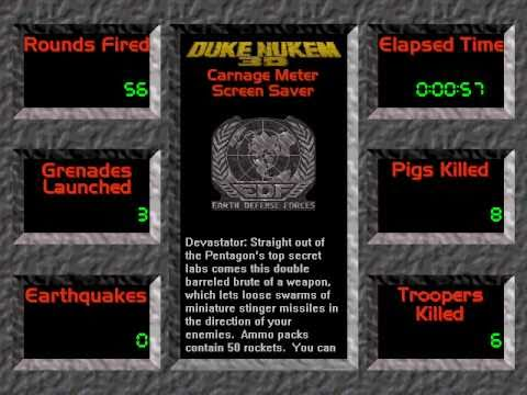 Duke Nukem 3D Screen Saver and Entertainment Pack - Demonstration