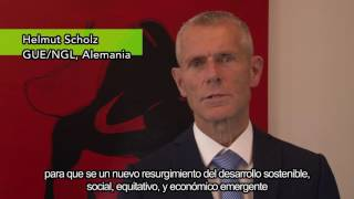 El Eurodiputado Helmut Scholz apoya la paz en Colombia