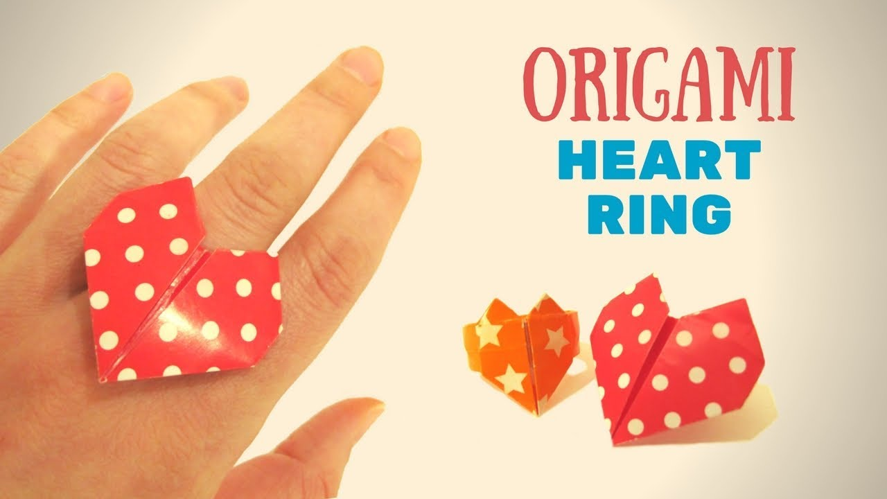 Heart Ring - How To Make An Easy Origami Heart Ring - 2 - YouTube | 720x1280