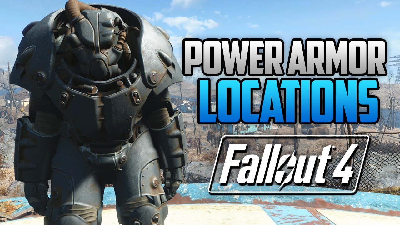 Fallout 4 All Full Power Armor Locations T45 T51 Raider T60