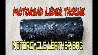 MOTORCYCLE LEATHER BAG / MOTORRAD LEDER TASCHE