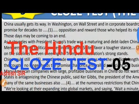 Cloze Test | English Tricks for Bank,SSC,CAT,CLAT